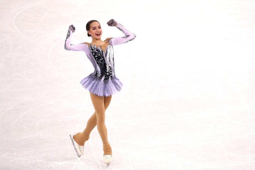 Alina Zagitova patinação artística Rússia PyeongChang (Foto: Dean Mouhtaropoulos/Getty Images)