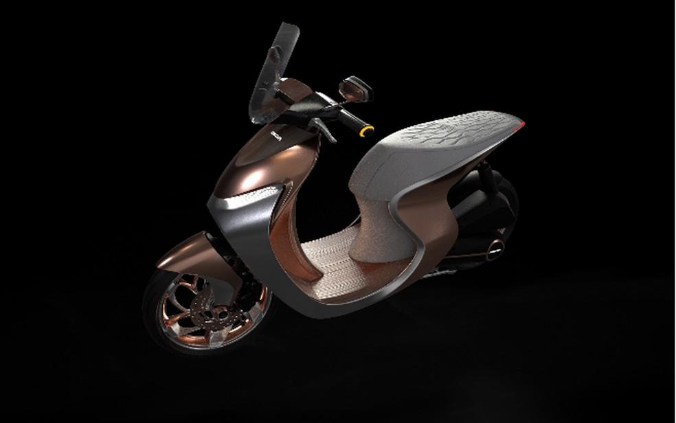 Conceito de scooter da Honda para o Salão Duas Rodas 2019 — Foto: Divulgação