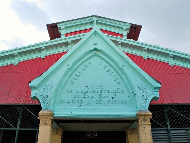Mercado Municipal Adolpho Lisboa, inaugurado em 1882 (Foto: Tiago Melo/G1 AM)