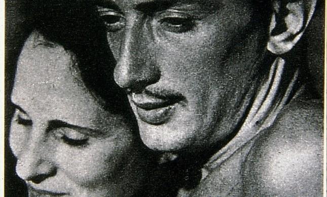 Salvador Dali e a russa Elena Diaranoff, sua musa, que ele chavama de Gala