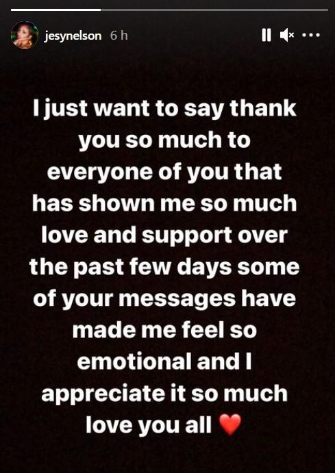 Jesy Nelson agradeceu o apoio dos fãs (Foto: Reprodução / Instagram)