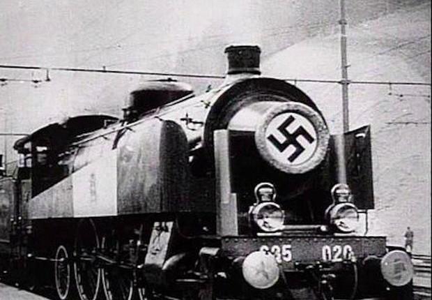 Foto de arquivo capta um trem das forças nazistas (Foto: Reprodução/Internet)