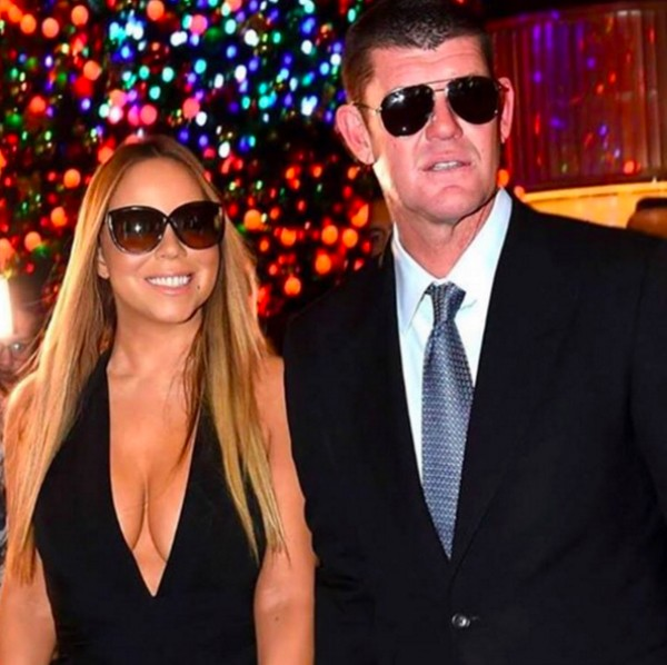 Mariah Carey e James Packer em foto publicada no Instagram da cantora (Foto: Instagram)