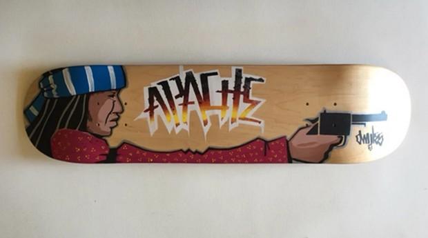 Um dos skates feitos pela APACHE Skateboards. (Foto: Divulgação)