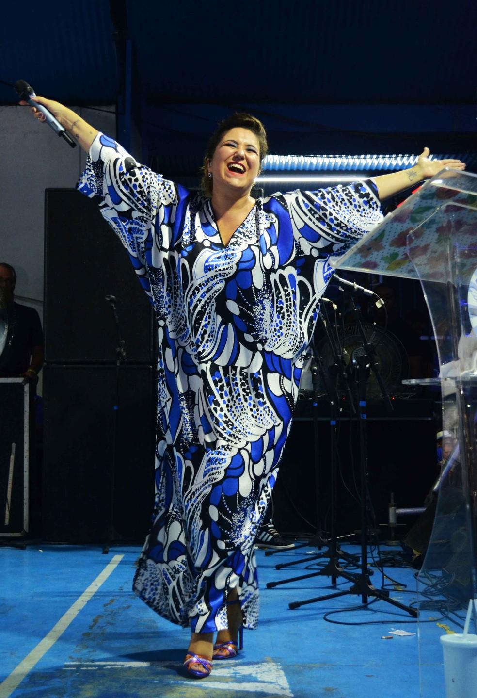 A cantora Maria Rita vai desfilar pelo terceiro ano consecutivo pela Portela — Foto: Wallace Mendonça / Divulgação