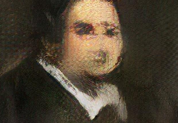 """Retrato de """"Edmond Belamy"""", feito por inteligência artificial (Foto: Divulgação/Christie's)"""