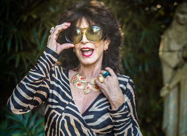 Lady Francisco caracterizada como Lorraine (Foto: Raquel Cunha/Divulgação/TV Globo)