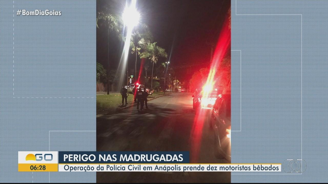 Polícia Civil prende dez suspeitos de dirigir bêbados, em Anápolis