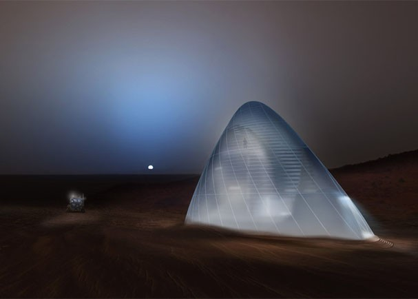 <em>Ice House</em>, projeto da <em>Team Space Exploration Architecture and Clouds Architecture Office</em>, vencedor do desafio da NASA