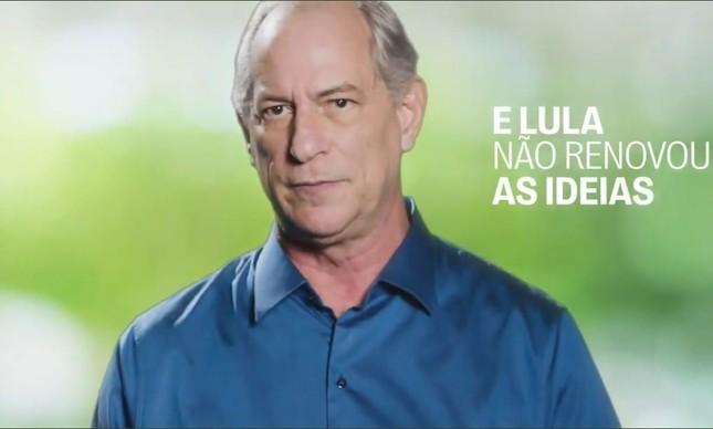 Ciro grava vídeo com críticas ao ex-presidente Lula