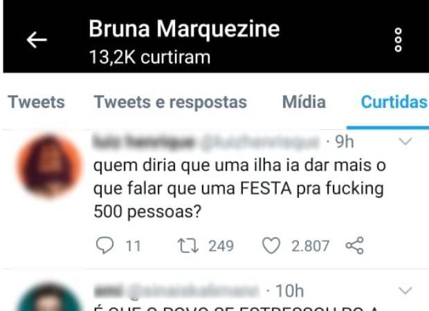 Bruna Marquezine curte post sobre festa de Neymar (Foto: Reprodução/Twitter)