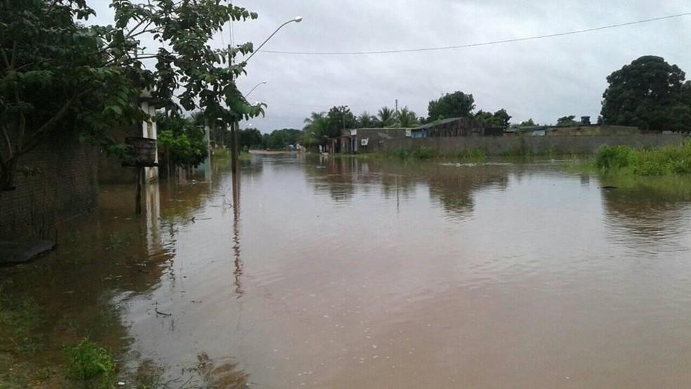Prefeitura preparou abrigo de emergência na cidade — Foto: WhatsApp/Reprodução