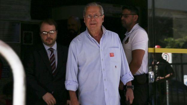 Dirceu deixou a cadeia em 27 de junho (Foto: Marcelo Camargo/Agência Brasil via BBC)