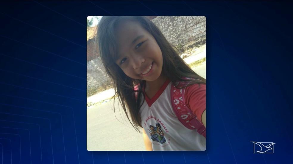 Alanna Ludmilla, de 10 anos, estava desparecida desde a quarta-feira (1º). (Foto: Reprodução/TV Mirante)