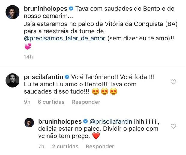 Bruno Lopes e Priscila Fantin (Foto: Reprodução / Instagram)