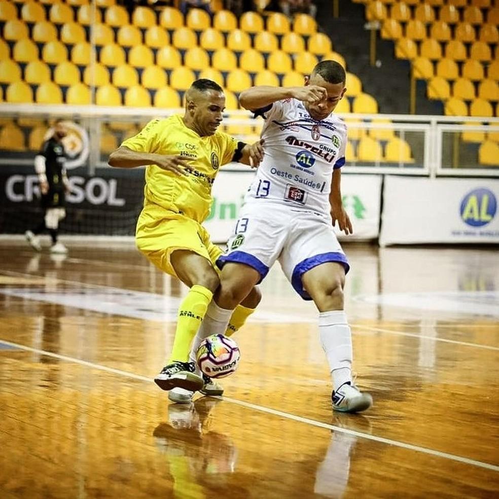 Times fizeram jogo bastante disputado. Era final, meus amigos! — Foto: Pulo Futsal / Instagram / Reprodução