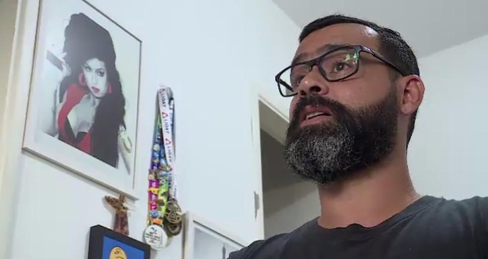 Douglas Braga, ex-jogador do Botafogo — Foto: Reprodução TV