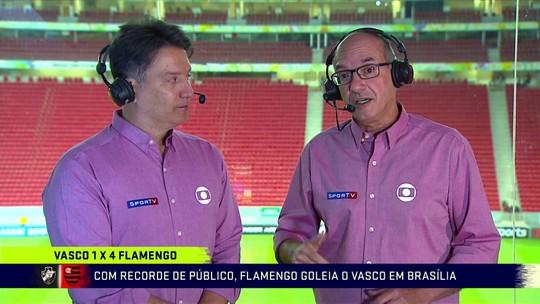 """Lédio Carmona diz que Flamengo foi muito superior ao Vasco em goleada, mas vê """"jogo maluco"""""""