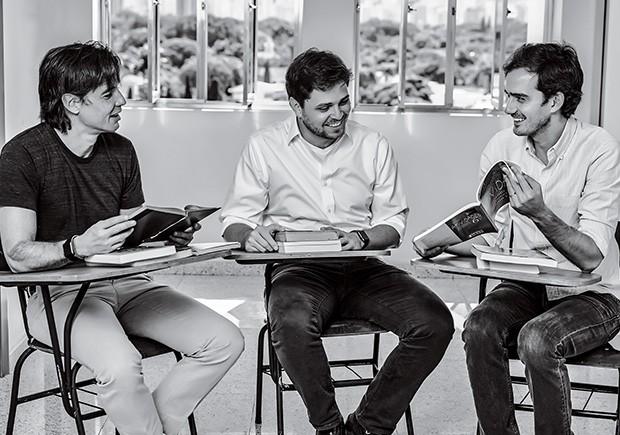 Volta às aulas: o trio da Bahema Educação.  (Foto: Victor Affaro)
