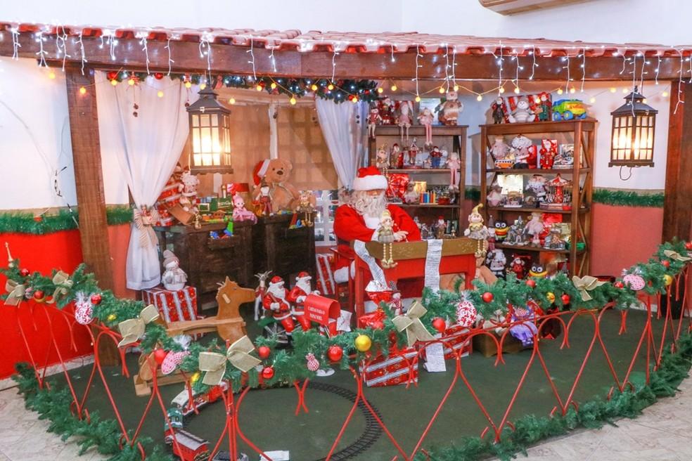 Casa do Papai Noel em Ji-Paraná — Foto: Prefeitura/Divulgação