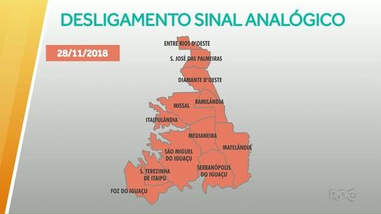 Sinal analógico de TV foi desligado na região nesta quarta-feira (28)