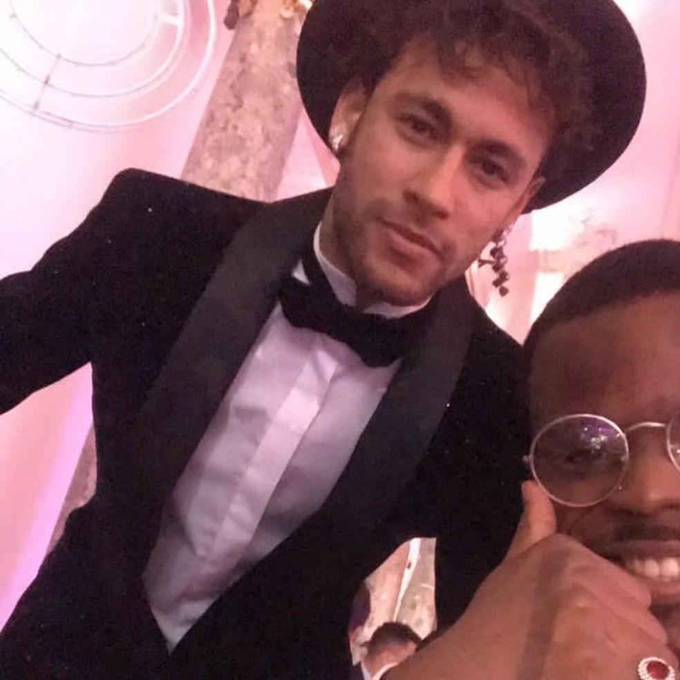 Neymar em sua festa de aniversário de 26 anos (Foto: Reprodução / Instagram)