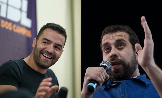 Arthur do Val e Guilherme Boulos: candidatos lideram ranking de apoio via crowdfunding
