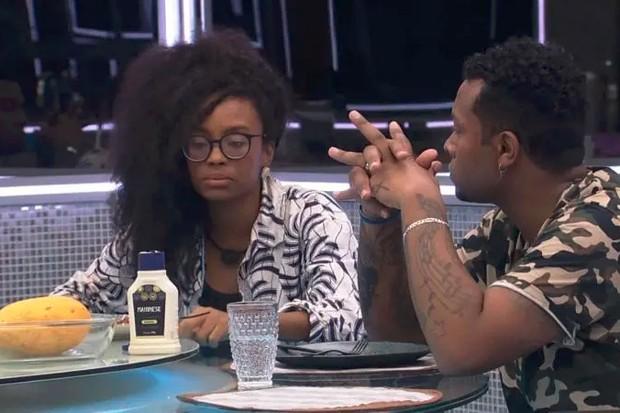 Nego Di critica posturas de Lumena no BBB21 (Foto: TV Globo)