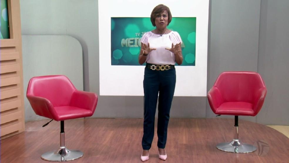 Graça Araújo é apresentadora da TV Jornal, no Recife (Foto: Reprodução/TV Globo)