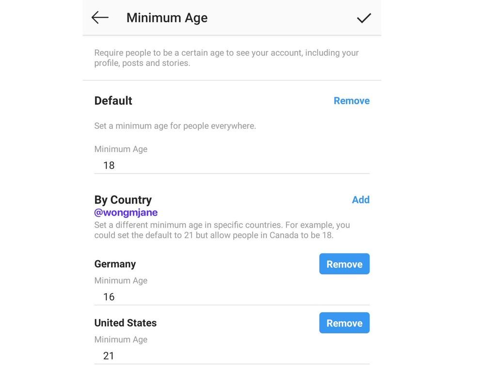Instagram trabalha em recurso para definir idade mínima de visitantes do perfil — Foto: Reprodução/Jane Manchun Wong