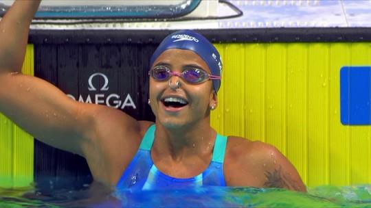 Etiene Medeiros se torna a primeira mulher brasileira campeã mundial nos 50m