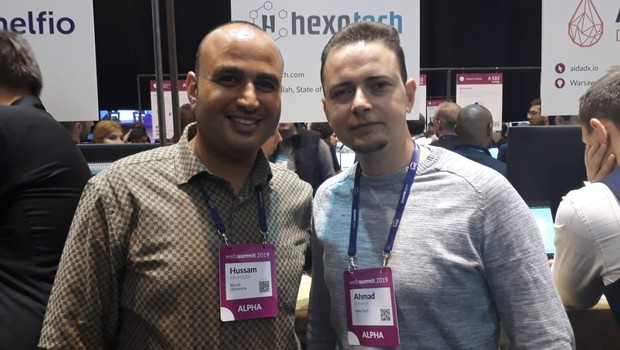 Ahmad Khrewesh e Hussam Abumazin, fundadores da HexaTech (Foto: Editora Globo)