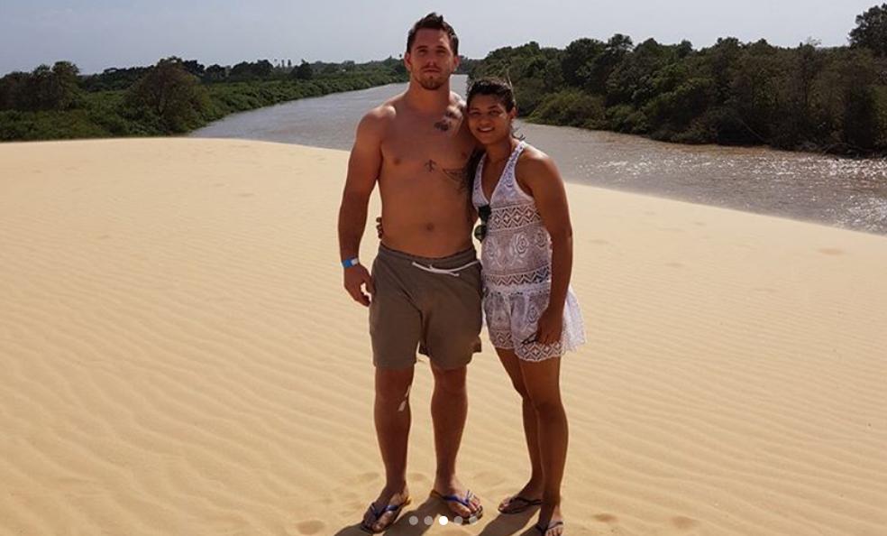Sarah com o namorado  (Foto: Reprodução/Instagram)