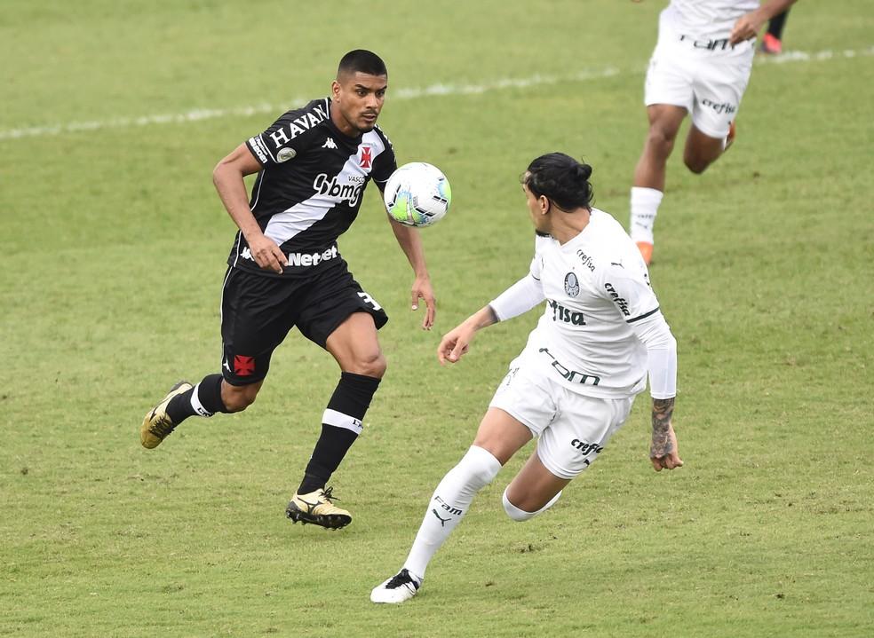 Léo Matos Gustavo Gómez Vasco x Palmeiras — Foto: André Durão