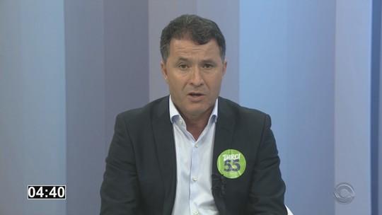 Darci de Matos é entrevistado pelo RBS Notícias nesta segunda-feira (24)