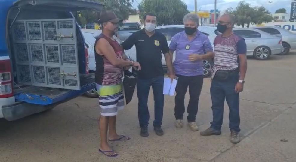 Aurelito Santiago foi preso pela Polícia Civil de Juazeiro (BA) — Foto: Divulgação