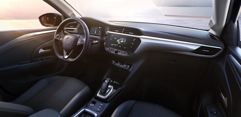 Interior do Corsa-e, da Opel — Foto: Opel/Divulgação