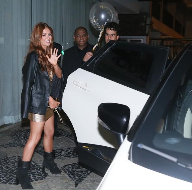 Marina Ruy Barbosa a caminho da sua festa de aniversário de 23 anos (Foto: Anderson Borde/Agnews)