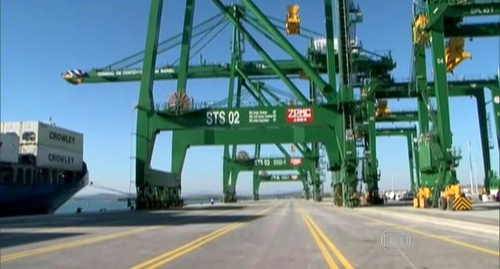 Porto de Mariel — Foto: Reprodução TV Globo