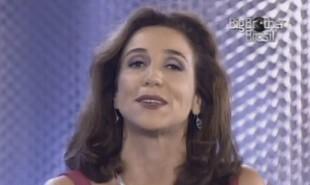 Marisa Orth chegou a dividir a apresentação com Pedro Bial na primeira edição do 'Big Brother Brasil', mas, após algumas semanas, acabou afastada | Reprodução