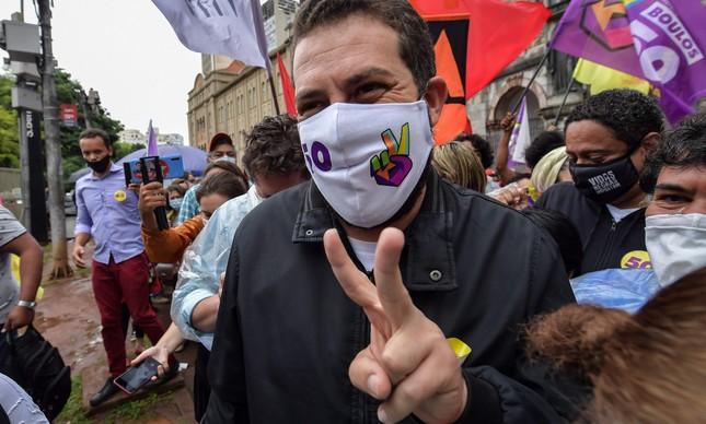 O candidato do PSOL à Prefeitura de SP, Guilherme Boulos