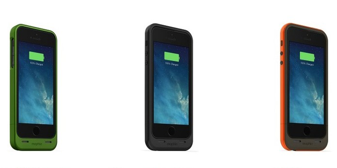 Case Mophie para iPhone 5S com três tipos de carga (Foto: Divulgação/Mophie)