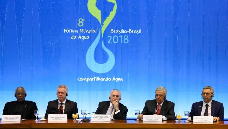 8º Fórum Mundial da Água-abertura-michel temer-brasília (Foto: Marcelo Camargo/Agência Brasil)