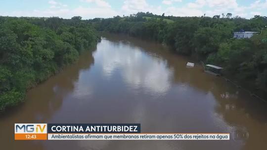 Ambientalistas afirmam que membranas retiram apenas 50% dos rejeitos na água do Paraopeba