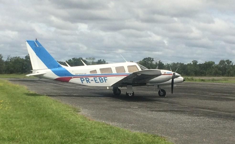 Avião fez pouso forçado em Tangará da Serra após ser interceptado pela FAB (Foto: FAB/Divulgação)