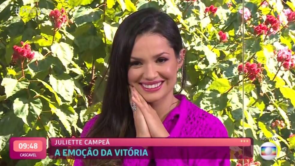 Juliette no 'Mais Você' — Foto: Globo