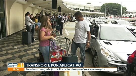 No 1º dia de fiscalização de apps de transporte, motoristas apresentam liminares para trabalhar em SP