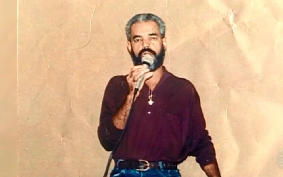 Radialista Ronaldo Santana foi morto em outubro de 1997 (Foto: Reprodução / TV Santa Cruz)