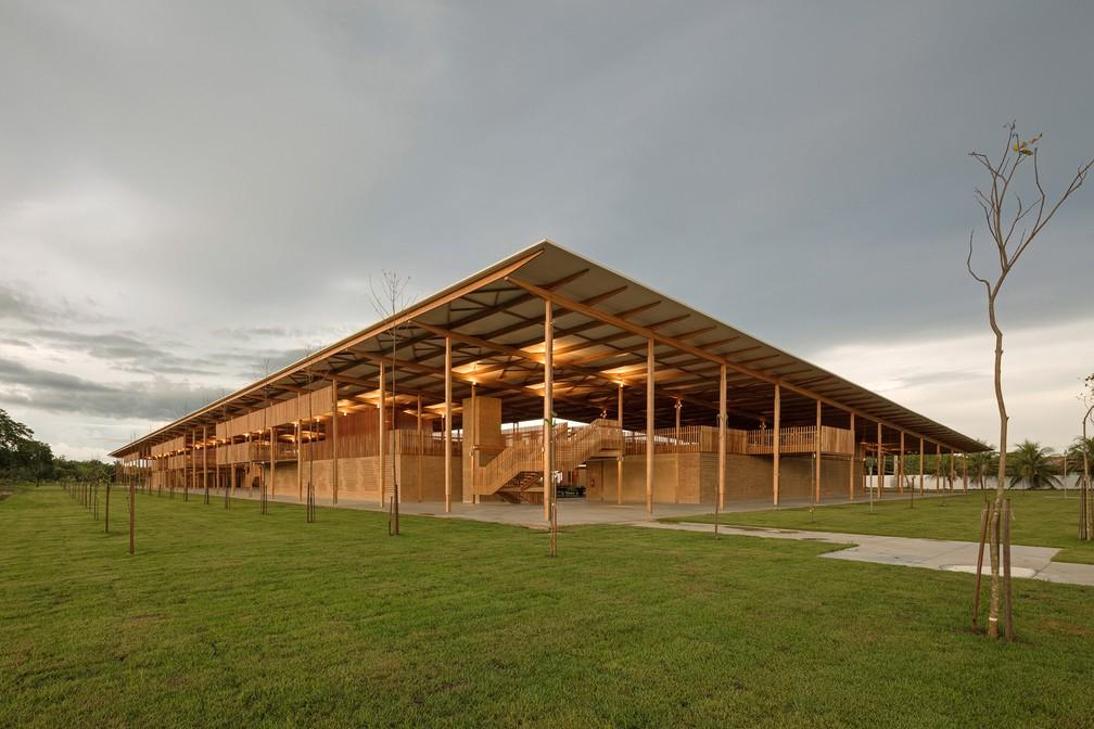 Projeto arquitetônico de escola na zona rural de Formoso do Araguaia foi premiada — Foto: Divulgação