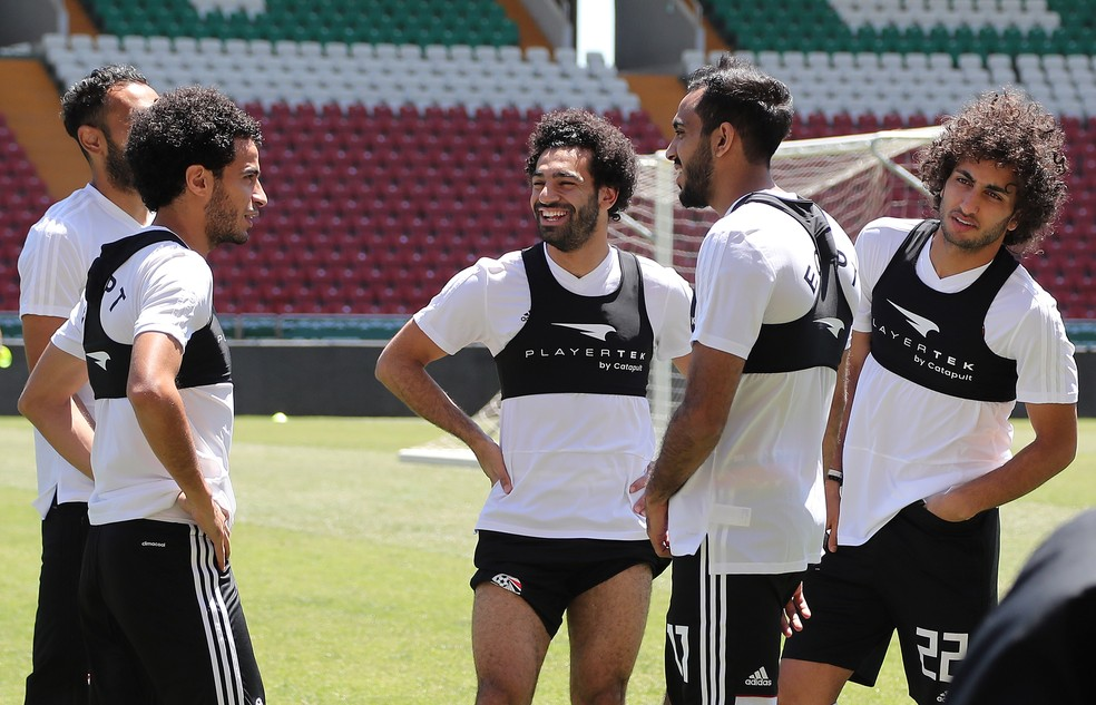 Salah treino Egito (Foto: Karim Jaafar/AFP)